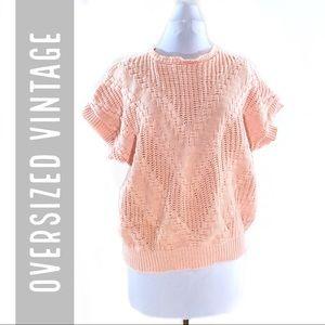 🇺🇸 Oversized Vintage Blush Pink Short Sleeve